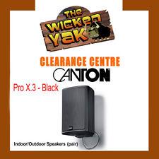CANTON Pro X.3 100 watt Indoor/Outdoor Speaker + Mounts BLACK FREE SHIPPING- NEW