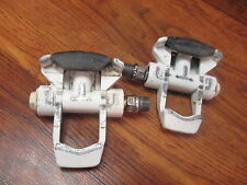 VINTAGE FIRST GENERATION LOOK CLIPLESS PEDALS - WHITE