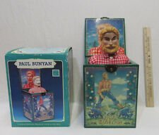 Vintage Enesco Paul Bunyan Jack In The Box Musical Box Pinery Boy Not Working