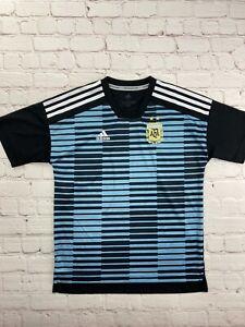 Adidas Parley AFA Argentina Soccer Jersey Blue Black - Youth Size Medium