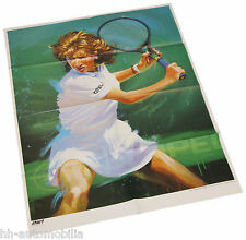 Poster Steffi Graf - Beilage aus Opel Magazin Start, 71 x 52 cm, 90er Jahre