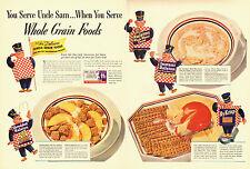 1940 WW2 breakfast  AD, Ralston  Whole Wheat Cereal, Ry-Krisp crackers -010414