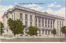 Memorial Building TOPEKA KANSAS ~ Vintage LINEN