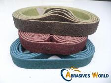 5PCS 530mm X 30mm Scotch Brite (non woven) polishing belts, coarse,medium,fine
