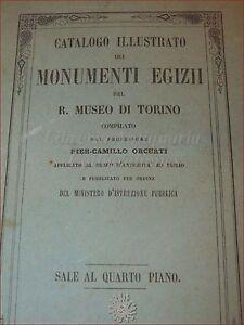 ARTE EGITTO - P.C. Orcurti: CATALOGO MONUMENTI EGIZII MUSEO TORINO 4° Piano 1855