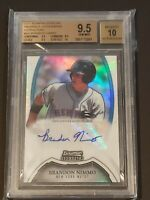 Brandon Nimmo 2011 Bowman Sterling Refractor Auto RC BGS 9.5/10 Rookie Autograph