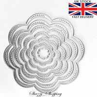 Small Flower Nesting Dies metal cutting die cutter set of 7 UK Seller Fast post