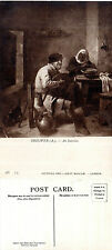 1940's AN INTERIOR BY FLEMISH ARTIST A BROUWER UNUSED POSTCARD