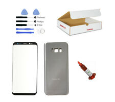 Silver Front Back Glass Lens Cover Replacement LCD Repair Kit Fit Galaxy S8 Plus