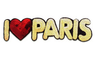 Embroidered Iron On Patches For Clothes Brand I Love PARIS SequinsDeal With UK
