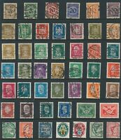 Lot Stamp Germany Inflation Eagle Munich Rhineland Famous People Hindenburg U