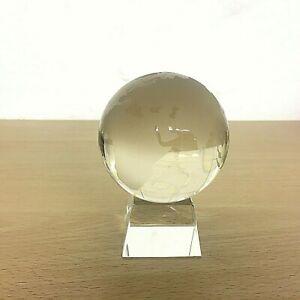 Glass Etched World Globe