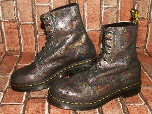 Dr. Martens 1460 PASCAL iridescent crackle leather boots uk 6 eu 39 us 8 Doc#70