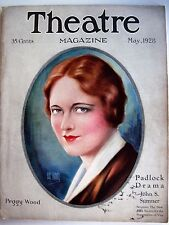 "Vintage May1928 ""Theatre Magazine"" w/ Peggy Wood Pictured by Hal Phyfe  (N)*"