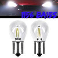 2*1156 BA15S LED Blinker Licht Rückwärtsgang Scheinwerfer Sicherung Birne Weiß