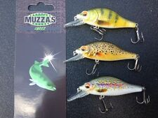 3 x 7 cm TROUT LURE MINNOW FISHING LURE freshwater Muzza's lures