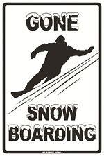 Gone Snow Boarding Aluminum Metal Traffic Parking Road Street Sign Wall Decor