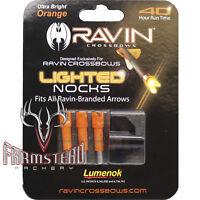 Ravin Crossbows Nock Lighted 3 Pack Orange Lumenok R135 #02135