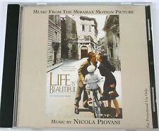 Nicola Piovani Life Is Beautiful Sdtk Rare Promo Cd