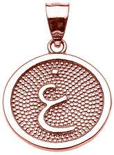 """14k Rose Gold Arabic Letter """" ayn """" G Initial Charm Pendant"""