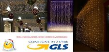 TENDA LUMINOSA 3 M X 1 M X ESTERNO 200 LED BIANCO CALDO CON TELECOMANDO IP44