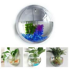 Wall Mounted Fish Tank Kit Bowl Bubble Aquarium Hanging Terrarium Goldfish Bowl