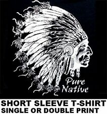 NATIVE AMERICAN PRIDE INDIAN CHIEF COUNTRY WESTERN WILD WEST T-SHIRT WS153