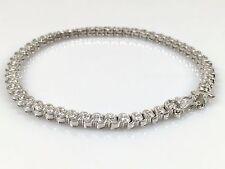 """925 Sterling Silver Solid Ladies CZ Line Bracelet 7.5"""" 12.35gr FREE UK POST"""