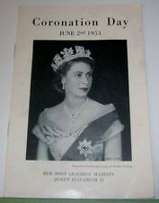 Queen Elizabeth II Coronation Day 1953 Merchant Navy Missions to Seamen Booklet