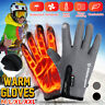 Winter Windproof Heated Warm Gloves Anti Slip Touchscreen Thermal Mittens