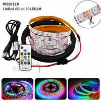 WS2812B Strip LED Lights 5050 RGB 30/60/144 LEDs/M Addressable+ RF Controller