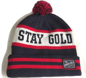 BENNY GOLD Stay Gold Pom Pom Beanie One Size Hat Knit WARM Winter