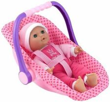 """Dolls World Isabella Soft Bodied Doll & Car Seat Girls Baby 12"""" Role Play Toy"""
