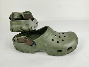 Crocs Offroad Sport Clog Army Green Men's Size 12 Slip On Shoes 202651