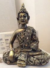 Beautifully Detailed Buddha's Statue. Adorned In COLORADO Swarovski Elements