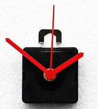 UTS (German) Quartz Clock Movements with medium stem. inc Short Red hands.