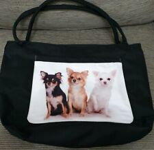 CHIHUAHUA DOGGIE BAG  CARRY /BEACH/TOTE/ SHOPPING BAG..large front pocket.. NEW