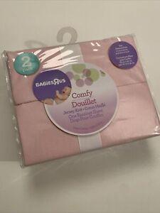 NIP BABIES R US 2 Pack Comfy Bassinet Sheets Cotton Pink
