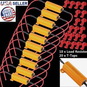 10pcs Load Resistor 50W 6RJ LED Decoder Fix Error Code Hyper Flash Turn Signal