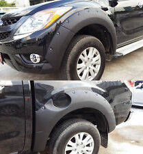 FOR Mazda BT50 Pro 12-14 Black Workmate Fender Flare Flares Wheel Arch Arches 7