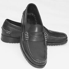 Allen Edmonds Penny Loafers Mens 9.5B Black Coppell Slip On Soft Soles Preppy