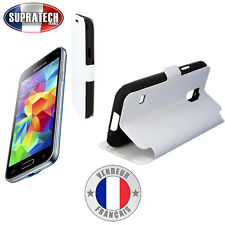 Etui Rabattable Blanc Avec Support pour Samsung Galaxy S5 Mini G800