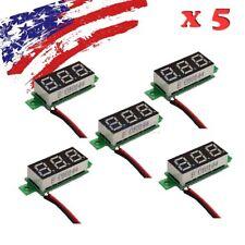 5pcs Mini DC 3.5-30V White LED Panel Voltage Meter 3-Digital Display Voltmeter