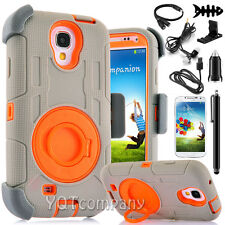 For Samsung Galaxy S3 S4 S5 Heavy Duty Rugged Hard Case Cover &Belt Clip Holster