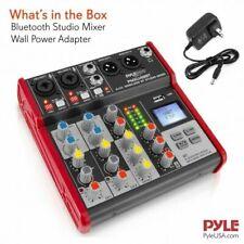 Pyle PMXU48BT 4-Ch. Bluetooth Studio Mixer, Pro Digital DJ Audio Mixer Console