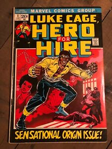 LUKE CAGE HERO FOR HIRE 1 VG+ 1972