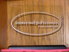 CONRAD-JOHNSON ETCHED GLASS W/BASE