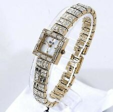 Badgley Mischka BA/1366MPGB Crystal MOP Dial Women's Watch - NEEDS BATTERY