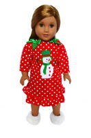 Snowman Nightgown for American Girl Dolls 18 Inch Doll Clothes