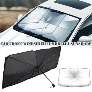 1x Universal Windshield Sun Shade Car Cover Sunshade Front Window Mount Umbrella